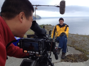 Cinematographer John and me. Bering Sea in the background