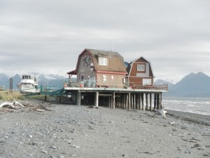 Houses at the Spit Homer, Alaska